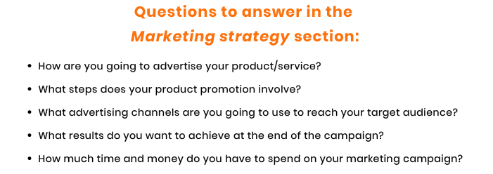 marketing strategy questions for tech startup
